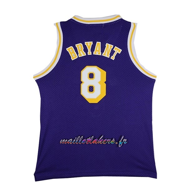 Maillot NBA Los Angeles Lakers NO.8 Kobe Bryant Pourpre Pas Cher