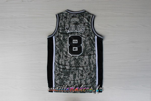 Maillot NBA San Antonio Spurs NO.8 Patty Mills Vert Pas Cher